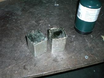 tin cubes on table